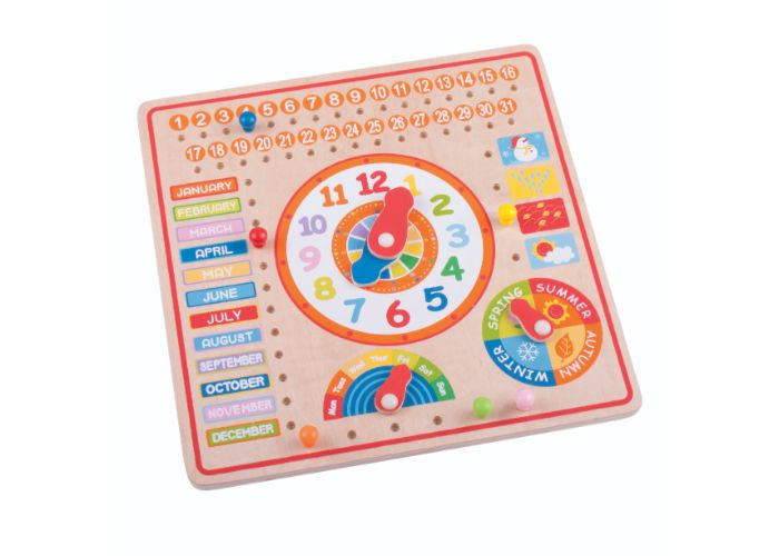 Bigjigs Toys Wooden Calendar and Clock