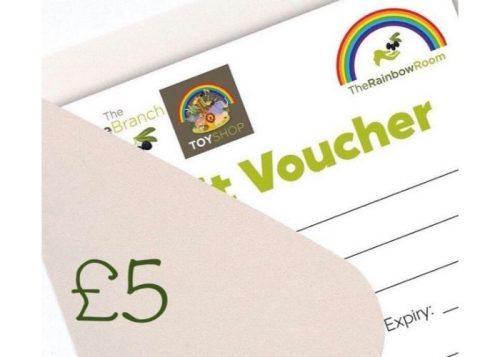 £5 Olive Branch & Rainbow Room Gift Voucher
