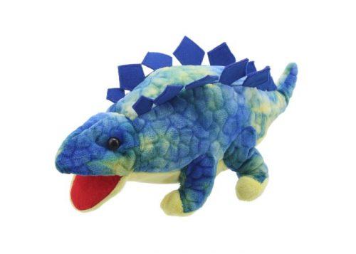 Baby Dinos Blue Stegosaurus Hand Puppet