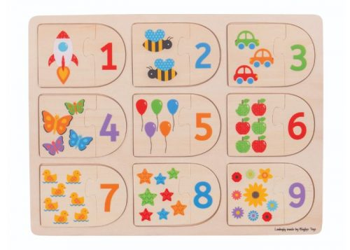Bigjigs Toys Picture and Number Matching Puzzle
