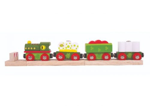 Bigjigs Rail Dinosaur Railway Engine and Carriages