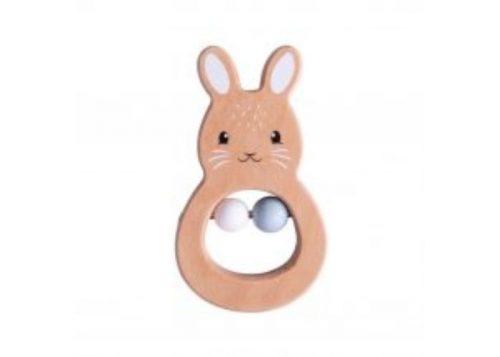 Bigjigs Toys Wooden Rabbit Rattle