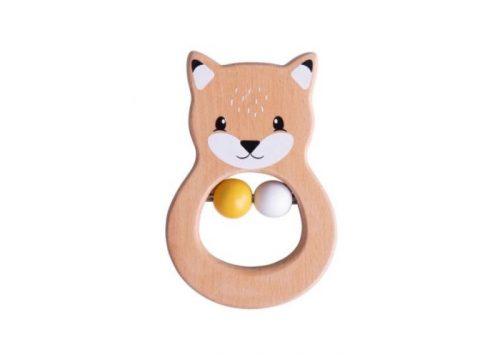 Bigjigs Toys Wooden Fox Rattle